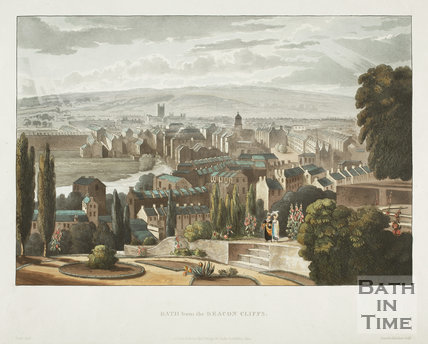 Bath from the Beacon Cliffs (Beechen Cliff) 1820