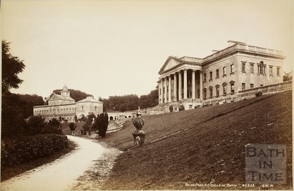 Main building and east wing, Prior Park, Bath c.1890