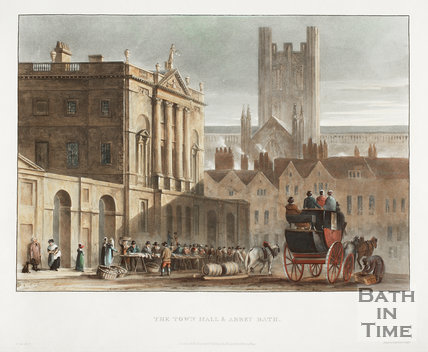 The Town Hall and Abbey, Bath 1820