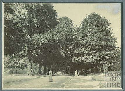 Promenading in Royal Avenue, Victoria Park, Bath c.1905