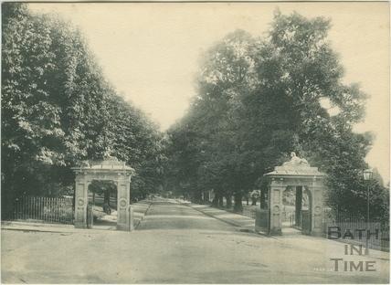 Park Gates, Victoria Park, Bath 1895