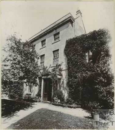 First of three views of the Old Vicarage, Twerton, Bath c.1900