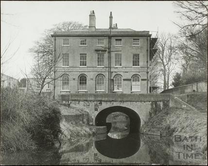 Cleveland House over the Kennet and Avon Canal near Sydney Gardens, Bath