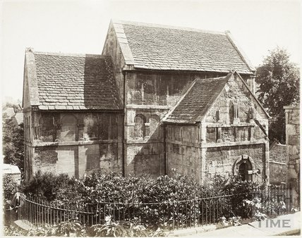 Saxon church of St. Lawrence, Bradford-on-Avon c.1885