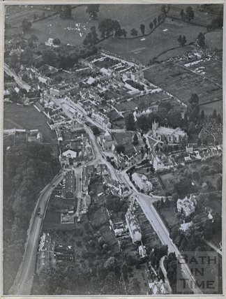 Aerial view of Upper Weston, Bath