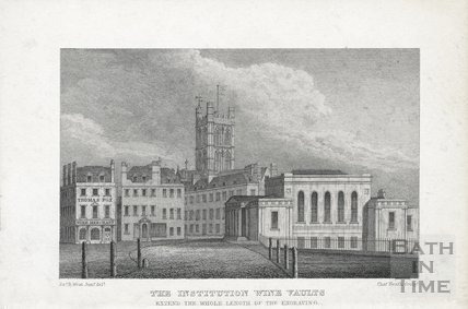 The Institution Wine Vaults, Terrace Walk, Bath c.1824