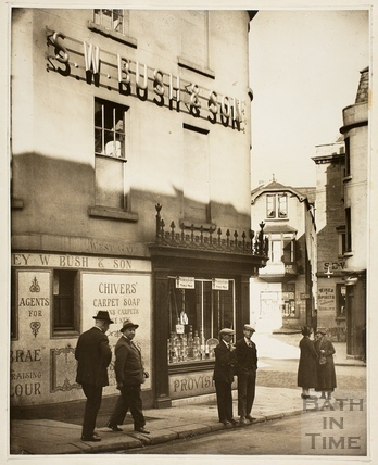 Bush's Corner before rebuilding, Westgate Buildings, Bath c.1925