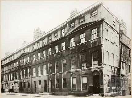Northumberland Buildings and Barton Street, Bath c.1950