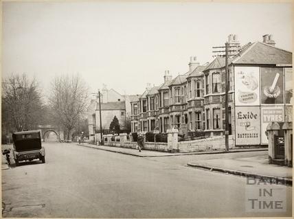 Pulteney Road and old railway bridge, Bath c.1950