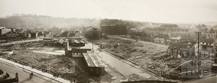 Panorama of Avon Street after post-war Demolition, Bath