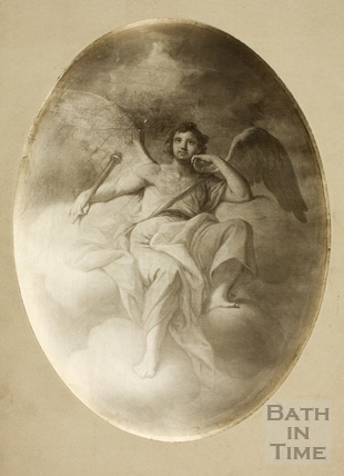 Ceiling Painting by Casali, BRSLI, 18, Queen Square, Bath