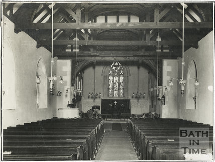 Interior of Neston Church, Wiltshire 1929
