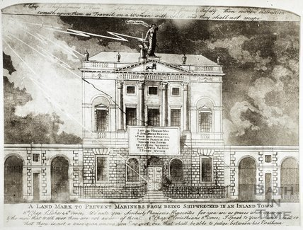 Caricature of the Guldhall, Bath