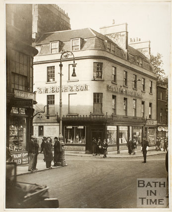 Bush's Corner from Westgate Street before rebuilding, Westgate Buildings, Bath c.1925