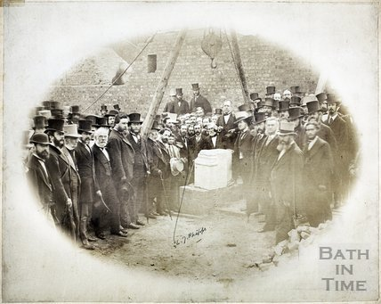 Laying the Foundation Stone of the New Theatre Royal, Bath 1862