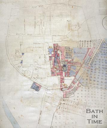 1725 - detail Plan of the Kingston Estate, Bath