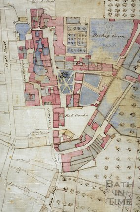 Plan of the Kingston Estate, Bath 1725 - detail