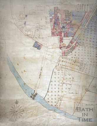 Plan of the Kingston Estate, Bath 1725 - detail