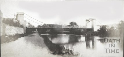 Combined paniorama of Dredge's Suspension Bridge, Bath 1849