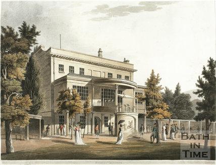 Sydney Gardens and rear of Sydney House (now Holburne Museum), Bath 1805