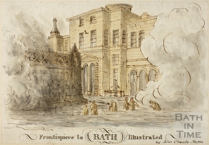 Copy of Frontispiece to Bath Illustrated by J.C. Nattes 1804