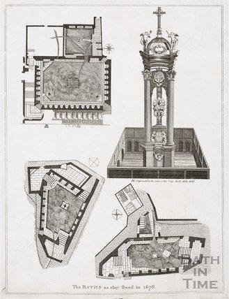 The Baths as they stood in Bath 1676
