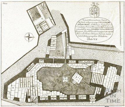 The Hot Bath and Beggar's or Lazor's Bath, Bath. Thermae Britanicae by Thomas Guidot 1691