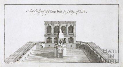 A Prospect of ye Kings Bath in ye City of Bath 1731