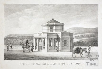 A view of the New Toll-House on the London Road near Bailbrook, Bath c.1835