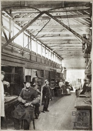 Inside the old Bath Market, Bath c.1863