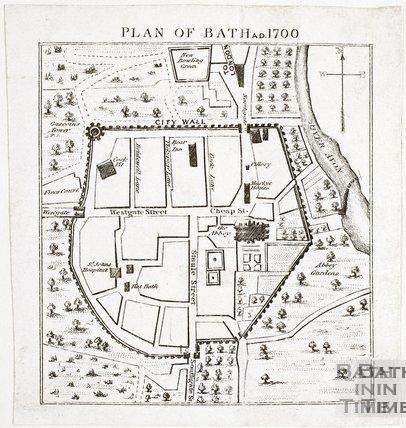 Copy of Plan of Bath 1700