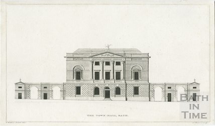 The Town Hall now the Guildhall, Bath c.1790