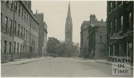Henry Street looking towards Pierrepont Street, Bath c1915