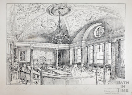 The Council Chambers, Bath Municipal Buildings, Bath 1896