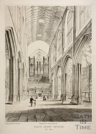 The Nave, Bath Abbey, Bath 1851