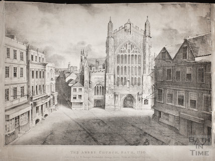Bath Abbey as seen in 1750, Bath c.1837
