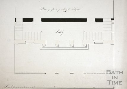 Plan of part of intended addition to Argyle Chapel, Bath