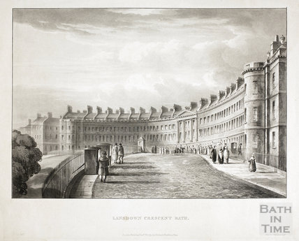 Lansdown Crescent, Bath 1820