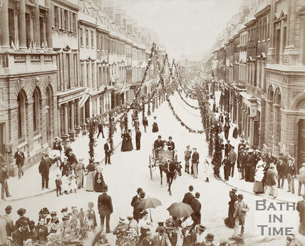 Queen Victoria Diamond Jubilee Week, Milsom Street, Bath 1897