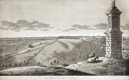 View from the Monument on Lansdown, Bath c.1760