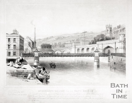 Mr. Dredge's design for the Bath Bridge, Bath c.1850