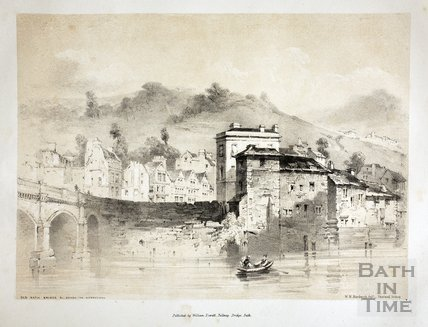 The Old Bath Bridge &c, Before the Alterations, Bath c.1839
