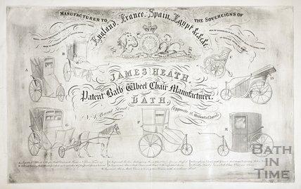 James Heath, Patent Bath Wheel Chair Manufacturer, 4, Broad Street, Bath c.1850