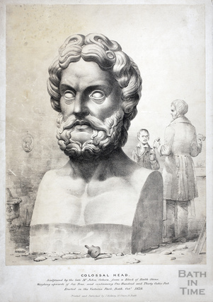 Colossal Head, Victoria Park, Bath 1839