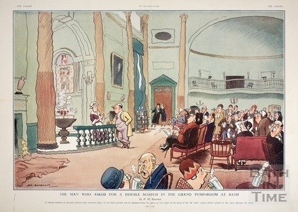 The man who asked for a double scotch in the Grand Pump Room at Bath 1931