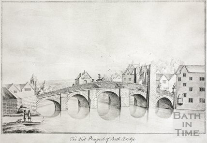 The West Prospect of Bath Bridge, Bath 1718