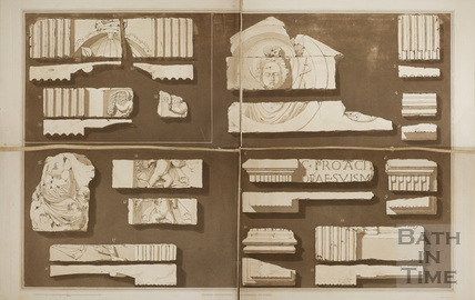 Roman Antiquities found at Bath 1802