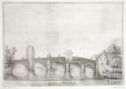 The East Prospect of Bath Bridge, Bath 1718