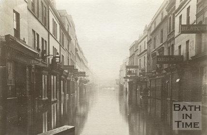 Floods, Southgate Street, Bath 1882