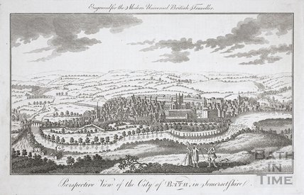 Perspective View of the City of Bath in Somersetshire 1772